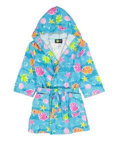Fish Hooded Bath Robe