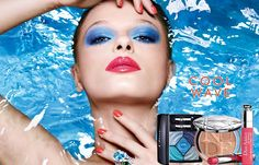 Cool Wave, or the promise of a summer at its zenith: Peter Philips, Creative and Image Director for Dior Makeup, marks the season with a collection that is both New Year's Makeup, Diy Makeup Vanity, Dior Makeup, Makeup Cosmetics, Fun Makeup, Makeup Trends 2018, Makeup Looks 2018, Prom Makeup For Brown Eyes, Diy Makeup Storage