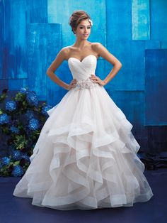 Wedding gown by Allure Bridals.