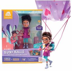 GoldieBlox Skydive Ruby Rails Action Figure STEM Toys For Girls 4+ NEW