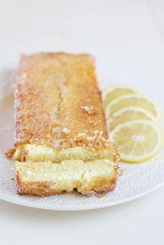 Gluten free glazed lemon pound cake