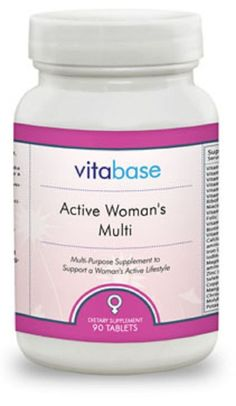 Active Woman's Multi Vitamins Vitabase Lifestyle Support Stress Nerves 90 Tabs #VitaBase