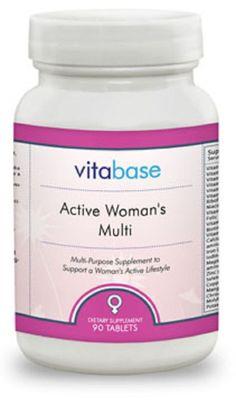 Active Woman's Multi Vitamins Vitabase Lifestyle Support Stress Nerves 90 Tabs #VitaBase