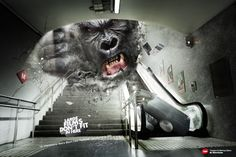 King Kong en la publicidad.