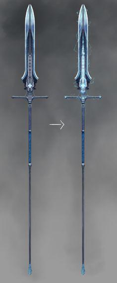 Sci-fi Spear Concept, Joe Grabenstetter on ArtStation at https://www.artstation.com/artwork/qEPGy