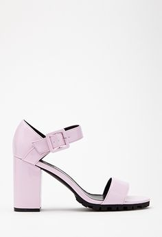 Faux Patent Ankle Strap Pumps   FOREVER21   #stepitup