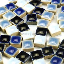 "PCS Micro Mosaic Tiles Black or White Ceramic Mixture 3//8/"" 0.97 200"