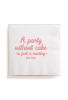 Julia Child Quotation Cocktail Napkins :)