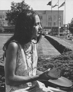 Joan Baez in Berkeley, 1964.