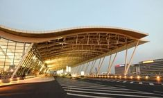 10 Fantastic US Airport Restaurants - Tss Wood Architecture, Organic Architecture, Futuristic Architecture, Concept Architecture, Amazing Architecture, Architecture Websites, Building Facade, Building Design, Airport Restaurants