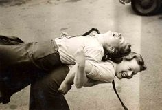 Margaret Brownlee lifting Millie Davis while performing RCAFWomen's Divison fitness exercises in England in Ww2 Women, Fitness Exercises, Teacher Resources, Division, Aviation, Interview, England, Politics