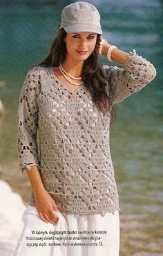 Lucru de mana crosetat, tricotat,margelit: Bluze crosetate+schema.