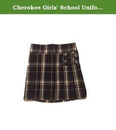 Cherokee Girls' School Uniform Plaid Twill Scooter (6X). Cherokee Girls' School Uniform Pleated Scooter Size 6X: Shell- 100% Polyester Lining- 97% Cotton, 3% Spandex School Uniform Skirt Size 6x SUPER DEAL!!!.