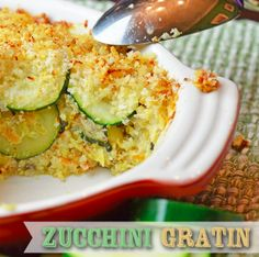 This is a delicious, homemade Zucchini Gratin Recipe that is sure to get veggies inside your kiddos! We love zucchini, and this is a fun way to eat them!