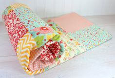 Baby Blanket Patchwork Blanket Girl Blanket by theredpistachio, $56.50