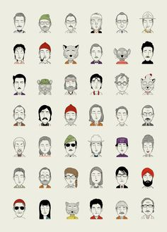 this isn't happiness™ (The characters of Wes Anderson, Alejandro Giraldo), Peteski