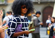 Julia Sarr-Jamois wearing a J.W. Anderson sweater (image: vogue)