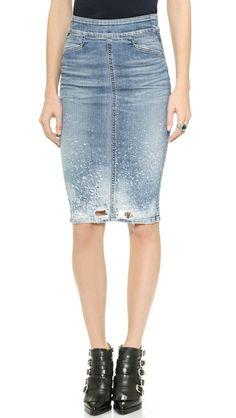 Citizens of Humanity Karmen Pencil Skirt Latest Jeans, Types Of Jeans, Citizens Of Humanity Jeans, Denim Fashion, Denim Skirt, Jean Skirt, Dress To Impress, Dress Skirt, Pencil