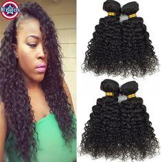 Virgin Peruvian Curly Hair 4 Bundles Cheap Peruvian Curly Weave Human Hair Extensions Peruvian Jerry Curl Virgin Hair 10-30inch  //Price: $US $66.03 & FREE Shipping //     #fashion #women #wig #wigs #hair #blond #darkhair #beauty #style Peruvian Curly Hair, Jerry Curl, Real Hair Extensions, Curly Weaves, Womens Wigs, Wigs For Black Women, Beauty Style, Virgin Hair, Dark Hair