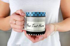 Custom mug, Black white personalized coffee mug, Create your own mug, Personalized mug, Design your own tea ceramic mug, Custom gift   by inspiring4u Unique Shoes, Unique Jewelry, Hot Pink Heels, Create Your Own Mug, Personalized Coffee Mugs, Office Wall Decor, Shoe Art, Custom Mugs, Design Your Own