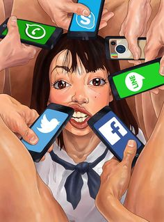 Artist Creates Controversial Illustrations That Mirror the Ugly Side of Society