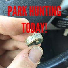 Park Hunting With Garrett At Pro Metal Detector Silver Ring