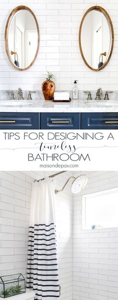 Make the most of your bathroom renovation! tips for designing a bathroom with current trends yet a timeless appeal. #bathroom #maisondepax