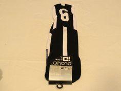 Player ID by TCK PCN MED # 6 TWI 1 sock black white vollyball basketball soccer #TCK #crewsock