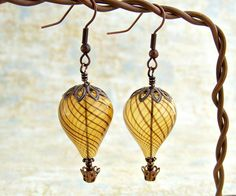 hot air balloon earrings.  I remember watching the balloons go overhead during the Walla Walla Balloon Festival every May