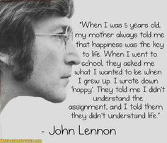 Life, Happiness, John Lennon
