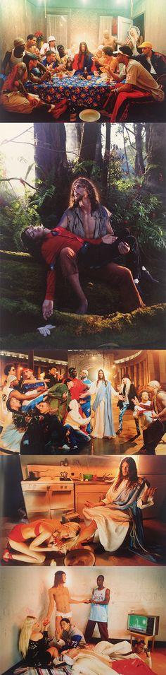 pinterest.com/fra411 #photography - David La Chapelle - a set contemporary tableau vivants