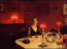 JOHN SINGER SARGENT: A DINNER TABLE AT NIGHT, 1884. JOHN SINGER SARGENT: A DINNER TABLE AT NIGHT, 1884.