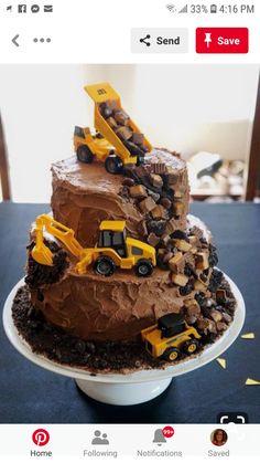 Birthday Party Desserts, Birthday Parties, Birthday Cakes, Construction Birthday, Dinosaur Party, Cakes For Boys, 3rd Birthday, Birthday Ideas, I Love Food
