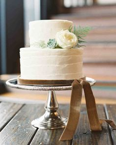 Choose a wedding cake flavor that's inspired by the season—we promise your guests will appreciate it!