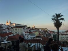 If you want to wind down after a long day make your way to the Miradouro Das Portas Do Sol that has a lovely terrace and great views of Alfama. Great View, Lisbon, Terrace, Building, Travel, Doors, Balcony, Viajes, Patio