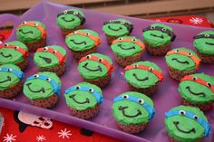 Ninja Turtle Cupcakes Decorating Tutorial