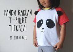 Panda Raglan Tee {tutorial}