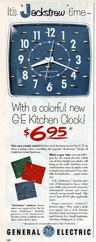 1953 General Electric (GE) kitchen clock ad