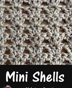 Meladoras Creations |   Mini Shells – Free Crochet Pattern