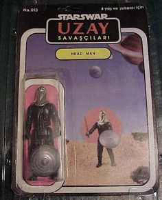 """Turkish rip-off Star Wars action figures such as the shield-baring """"Head Man"""" are gloriously awful. You can see more of these marvelously shitty toys at the Star Wars Collectors Archive."""