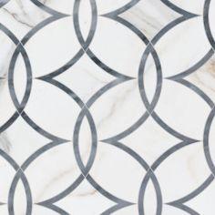 lampadario Waterjet Luxury Tile Design with Calacatta Bardiglio