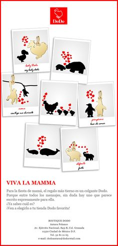 VIVA LA MAMMA, en estas fiestas, uno de los regalos más tiernos para mamá son los colgantes Dodo. ¿Ya saben cuál obsequiarán? Vengan a elegirlo a Dodo Antara.