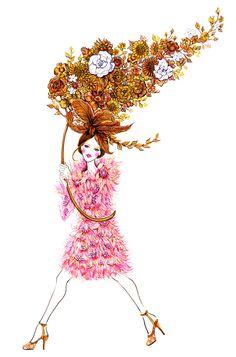 Flower Mood (series) - Sunny Gu - Giambattista Valli Spring 2013 Couture