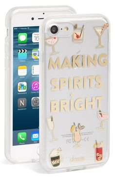 If it's beginning to look a lot like cocktails everywhere, maybe it's time to update the iPhone case for a little holiday-style sparkle.