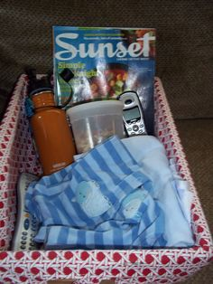 Breastfeeding Basket: Since you will be breastfeeding for 30-40 minutes at a time, 8 or more times in a 24 period, don't you want items near you that will help you pass the time and make you self-sufficient?
