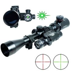 77.01$  Watch more here - http://ait0g.worlditems.win/all/product.php?id=32584988724 - Professional 3-9x40 Hunting Mil-Dot illuminated Snipe Rifle Scope + Green Laser Sight / Tactical Optical Rifelscope + Flashlight