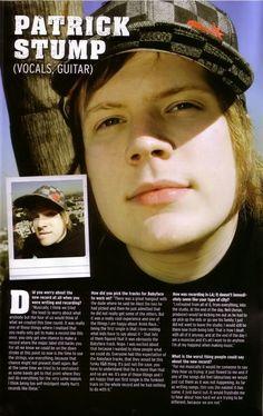 Patrick Stump Fall Out Boy interview