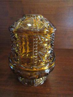 Fairy Lamp, Indiana Glass, Amber Glass, Vintage Home Decor, I Shop, Perfume Bottles, Lamps, Pattern, Platform