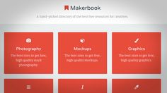 When you're working on a big project, tracking down free assets is often key to keeping costs down. Makerbook is a collection of a variety of places where you can find free assets, including mockups, audio, images, and more.