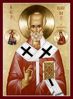 "My patron saint ""Nicholas the Wonderworker and Archbishop of Myra in Lycia"""